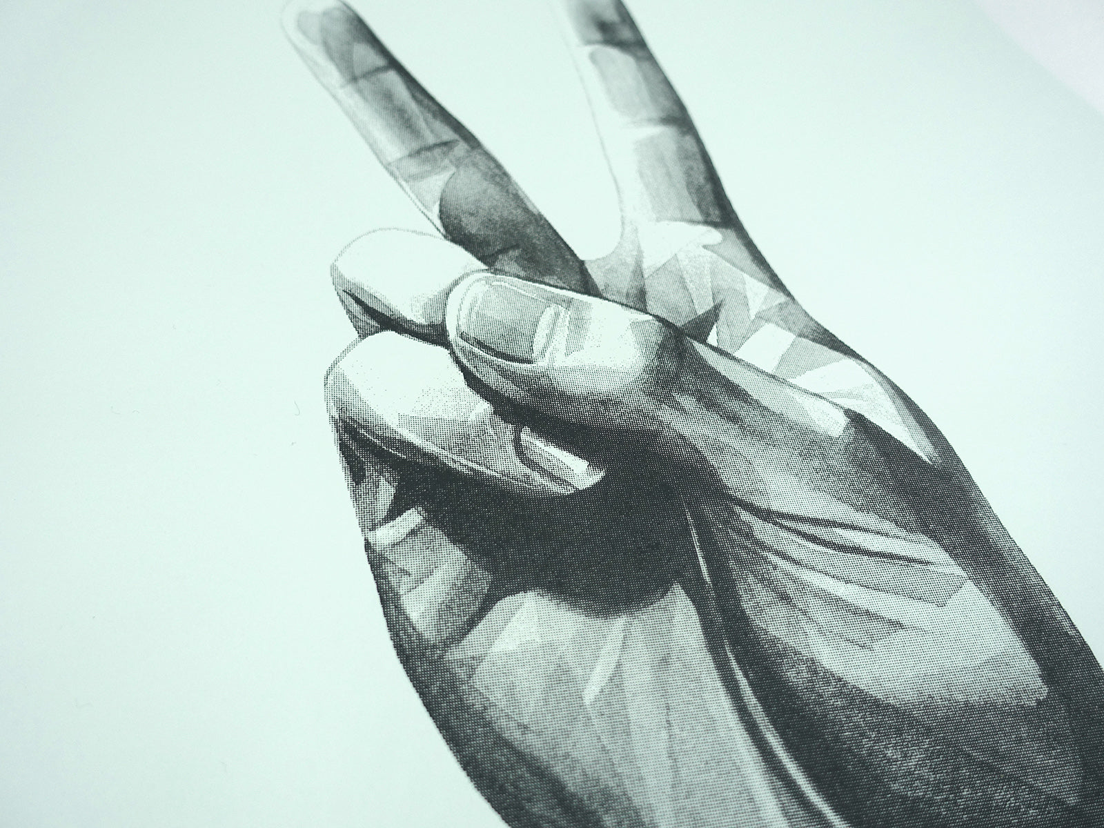 Gestures 'Peace' screen print | 2nd Edition