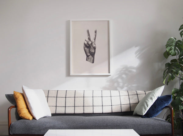 Gestures 'Peace' screen print ( Screen Print ) by London artist Von — www.shopvon.com