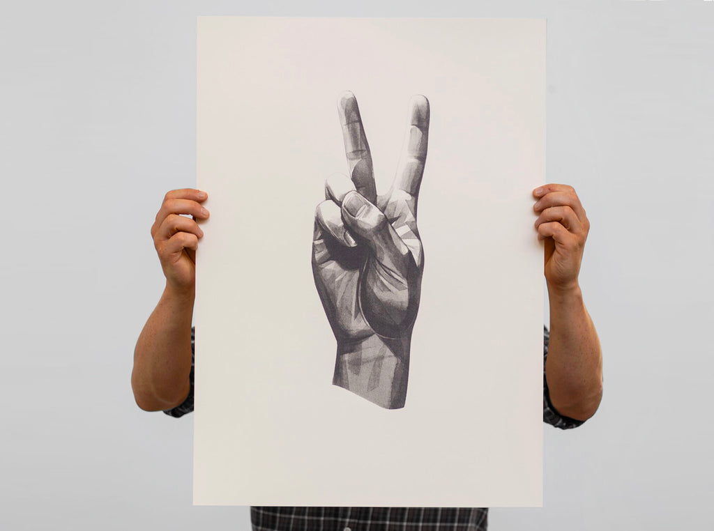 New edition | 'Gestures Peace' screen print.