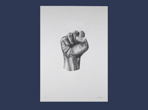 Gestures 07 | Power  [2016] ( Riso Print ) by London artist Von — www.shopvon.com