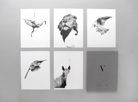 'Animals' Collector's Edition box Set ( Box Set ) screen prints and original art by London artist Von — www.shopvon.com