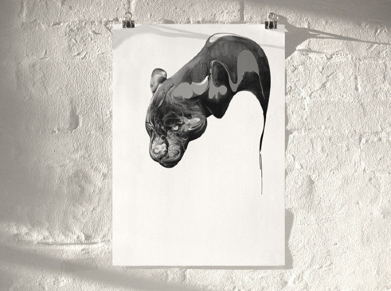 Panther 01 (  ) screen prints and original art by London artist Von — www.shopvon.com