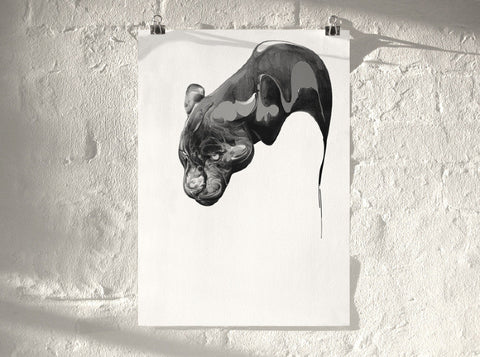 Panther 01 (  ) by London artist Von — www.shopvon.com