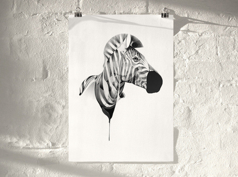 Zebra 01 | Artist Proof (  ) screen prints and original art by London artist Von — www.shopvon.com