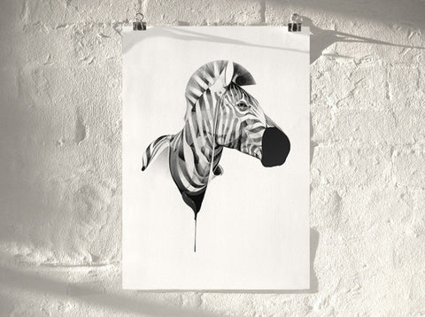 Zebra 01 | Artist Proof (  ) by London artist Von — www.shopvon.com