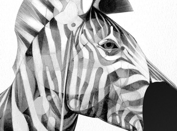 Zebra 01 | Artist Proof   (  ) by London based artist Von  — ShopVon |  HelloVon - 3