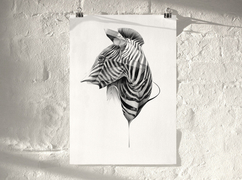 Zebra 02 (  ) screen prints and original art by London artist Von — www.shopvon.com