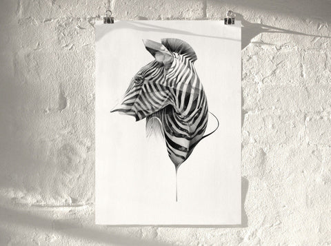 Zebra 02 (  ) by London artist Von — www.shopvon.com