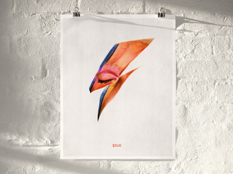 Bowie   ( Giclee Print ) by London based artist Von  — ShopVon |  HelloVon - 1