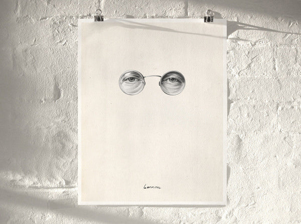 Lennon (  ) by London artist Von — www.shopvon.com