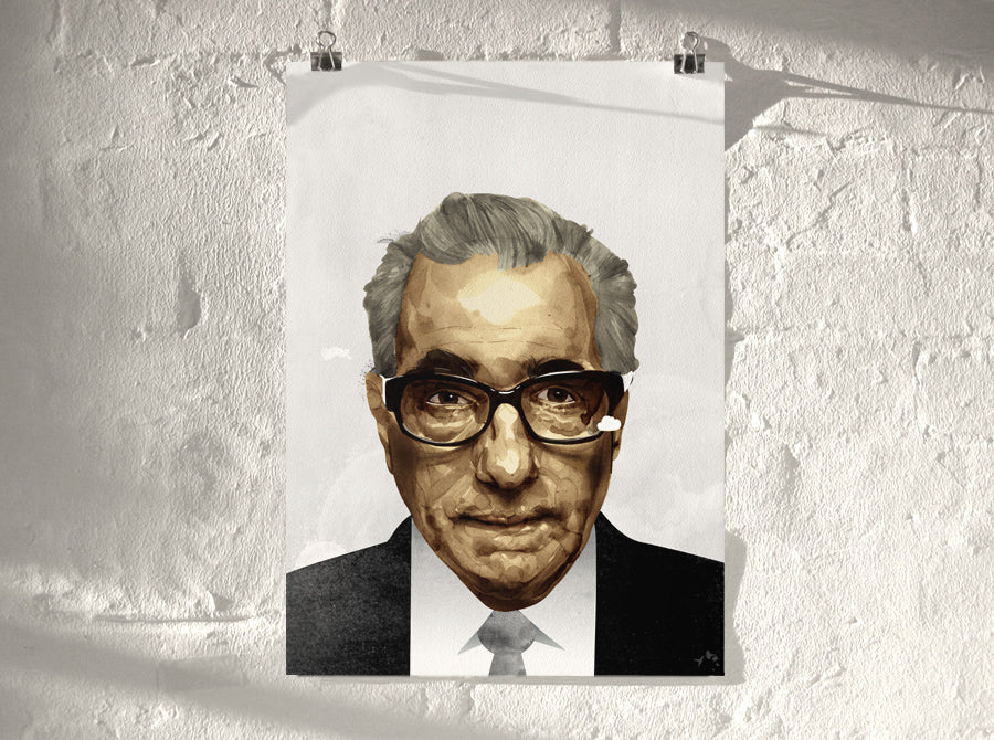 Scorsese (  ) screen prints and original art by London artist Von — www.shopvon.com