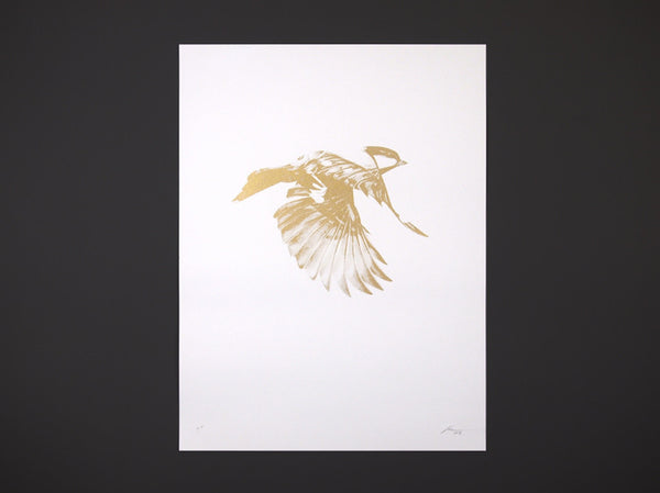 'Flight 02' Gold Screen Print | Artist Proof   ( Screen Print ) by London based artist Von  — ShopVon |  HelloVon - 1