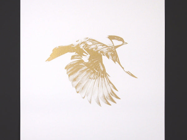'Flight 02' Gold Screen Print | Artist Proof   ( Screen Print ) by London based artist Von  — ShopVon |  HelloVon - 2