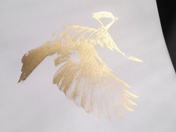 'Flight 02' Gold Screen Print | Artist Proof   ( Screen Print ) by London based artist Von  — ShopVon |  HelloVon - 4