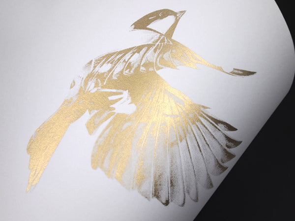 'Flight 02' Gold Screen Print | Artist Proof   ( Screen Print ) by London based artist Von  — ShopVon |  HelloVon - 5