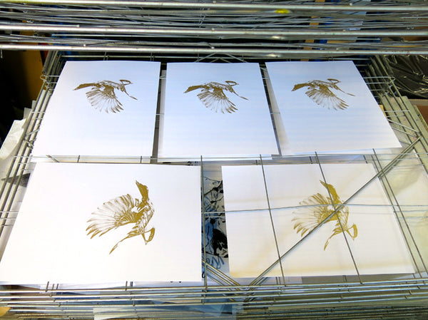'Flight 02' Gold Screen Print | Artist Proof   ( Screen Print ) by London based artist Von  — ShopVon |  HelloVon - 11