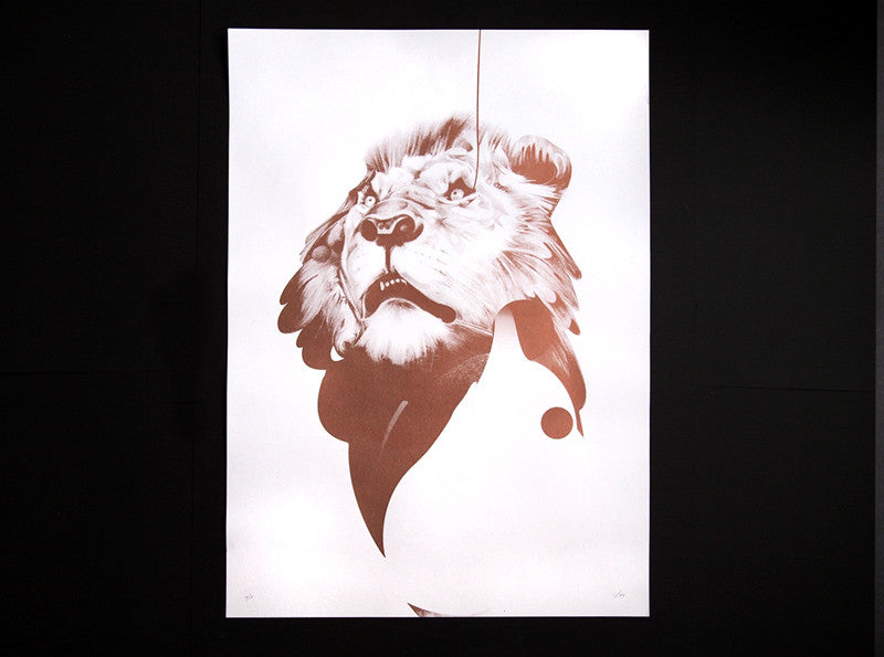 'Lion 01' Copper Edition | Artist Proof ( Screen Print ) screen prints and original art by London artist Von — www.shopvon.com