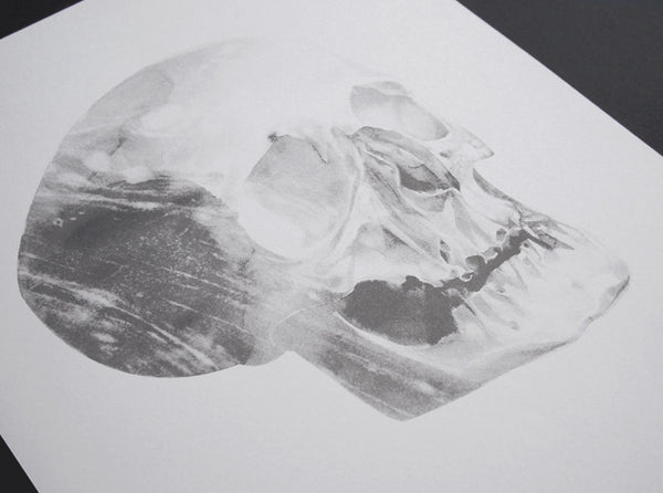 Skull 01 [2014]   ( Riso Print ) by London based artist Von  — ShopVon |  HelloVon - 2
