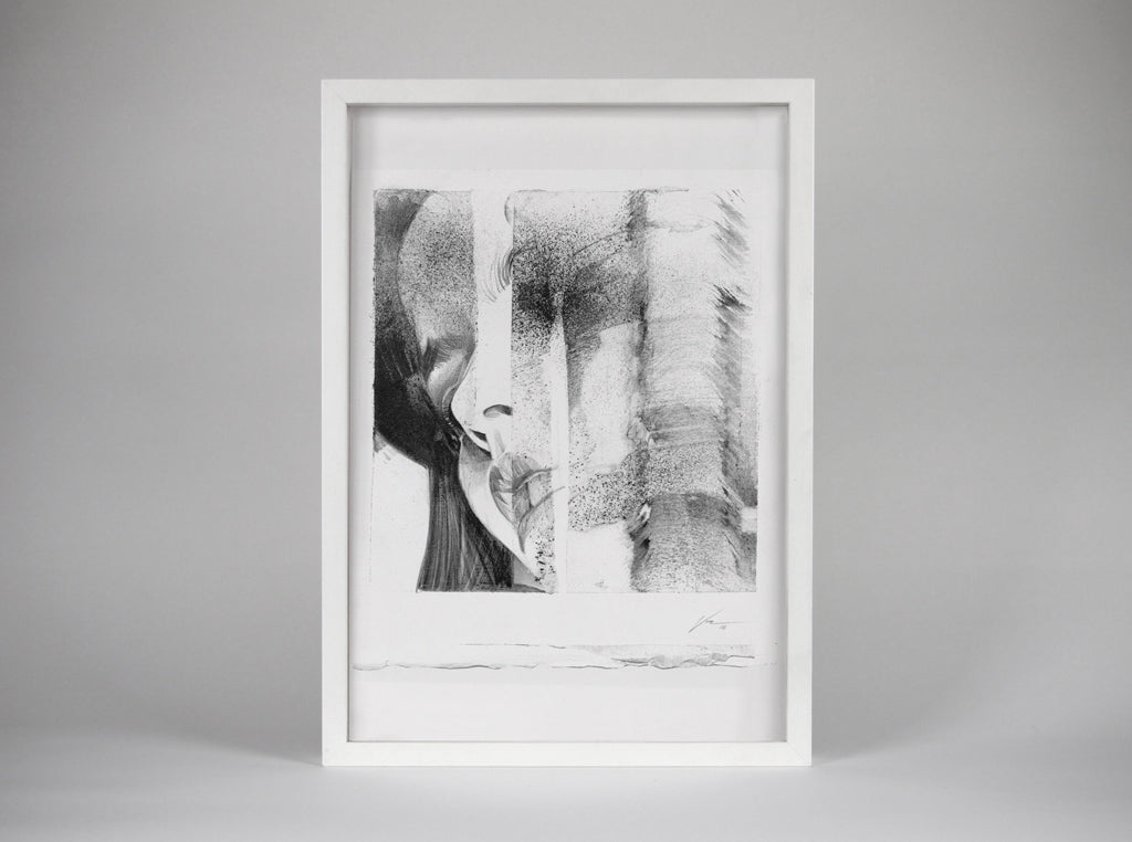 Echoes Study 11  [Framed] ( Original Art ) screen prints and original art by London artist Von — www.shopvon.com