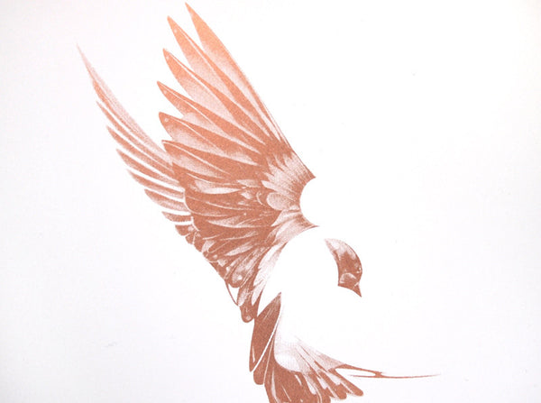 'Flight 01' Copper Screen Print | Artist Proof   ( Screen Print ) by London based artist Von  — ShopVon |  HelloVon - 2