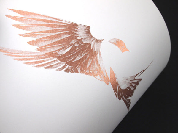 'Flight 01' Copper Screen Print | Artist Proof   ( Screen Print ) by London based artist Von  — ShopVon |  HelloVon - 4