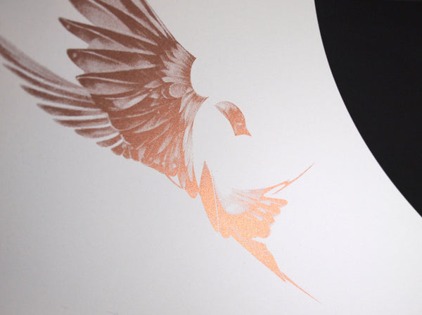 'Flight 01' Copper Screen Print | Artist Proof   ( Screen Print ) by London based artist Von  — ShopVon |  HelloVon - 5