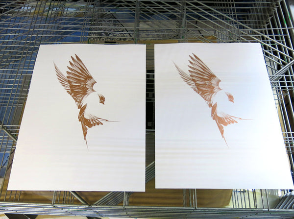 'Flight 01' Copper Screen Print | Artist Proof   ( Screen Print ) by London based artist Von  — ShopVon |  HelloVon - 10