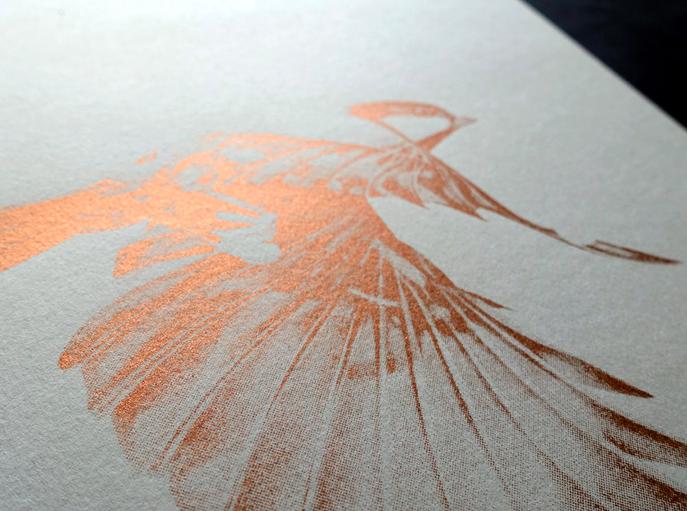 Flight 02 — Copper Edition on Grey | Artist Proof