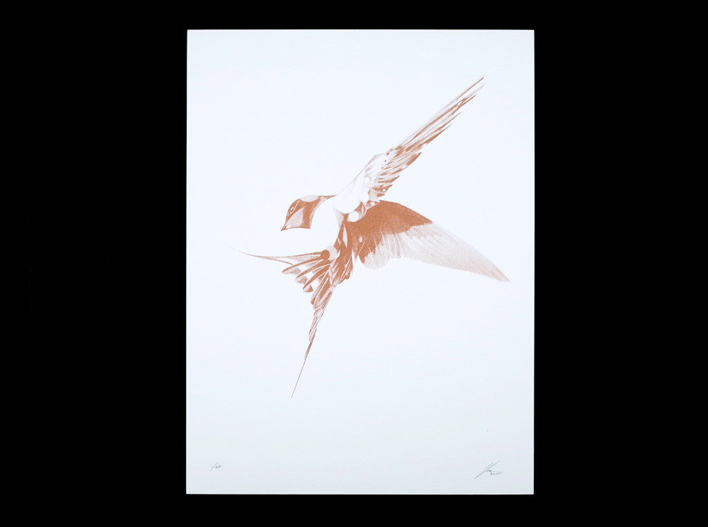 Flight 06 — Copper Artist Proof ( Screen Print ) screen prints and original art by London artist Von — www.shopvon.com