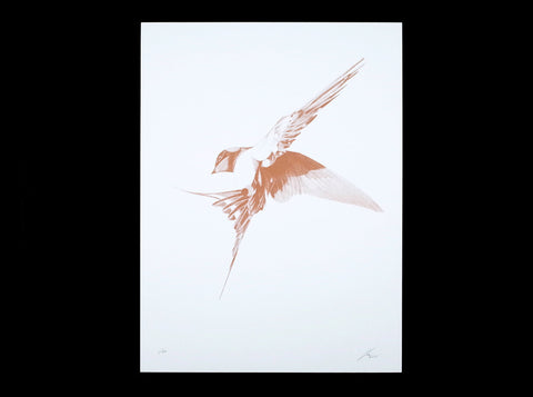 Flight 06 — Copper Artist Proof   ( Screen Print ) by London based artist Von  — ShopVon |  HelloVon - 1