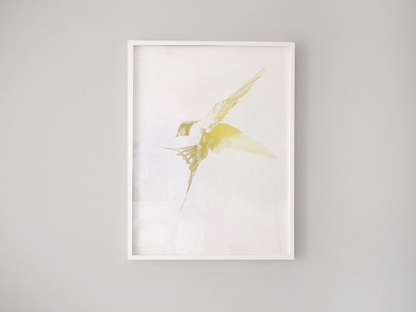 Flight 06 — Gold AP ( Screen Print ) by London artist Von — www.shopvon.com