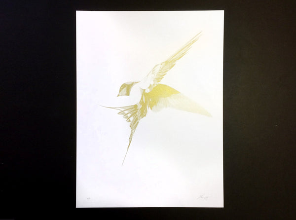 Flight 06 — Gold AP   ( Screen Print ) by London based artist Von  — ShopVon |  HelloVon - 2