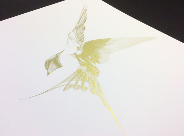 Flight 06 — Gold AP   ( Screen Print ) by London based artist Von  — ShopVon |  HelloVon - 3