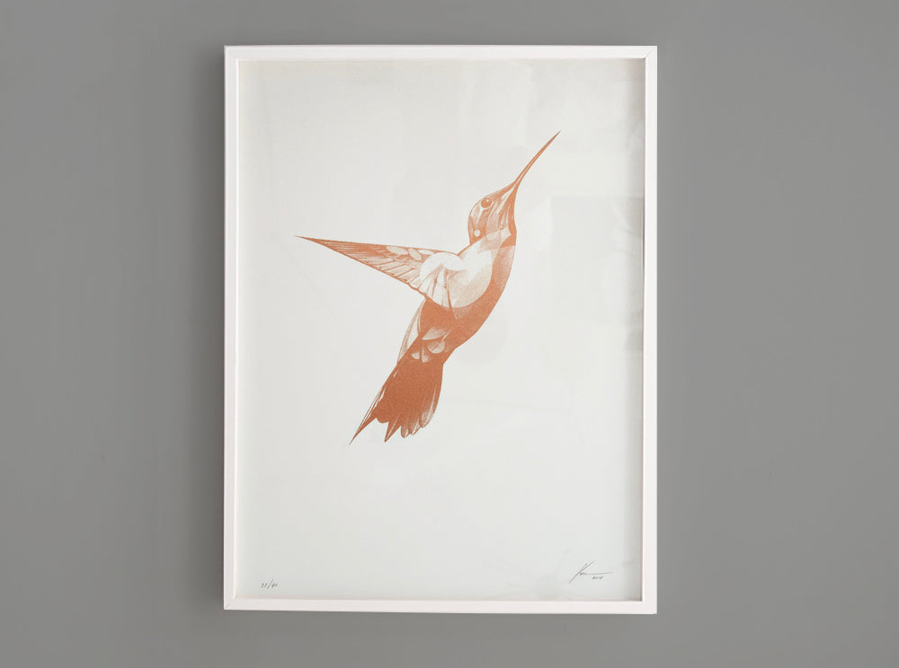 Flight 08 — Copper Edition (  ) screen prints and original art by London artist Von — www.shopvon.com