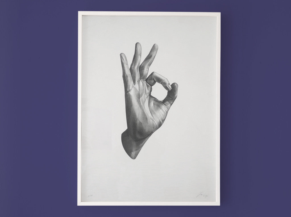 Gestures 08 | A-OK  [2017] ( Riso Print ) screen prints and original art by London artist Von — www.shopvon.com