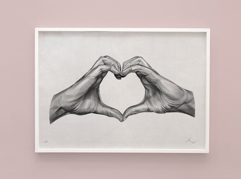 Gestures 09 | Lover or Hater ? [2018] ( Riso Print ) by London artist Von — www.shopvon.com