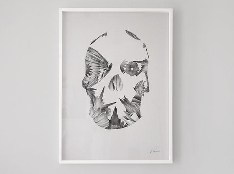 Skull 02 [2015] ( Riso Print ) by London artist Von — www.shopvon.com