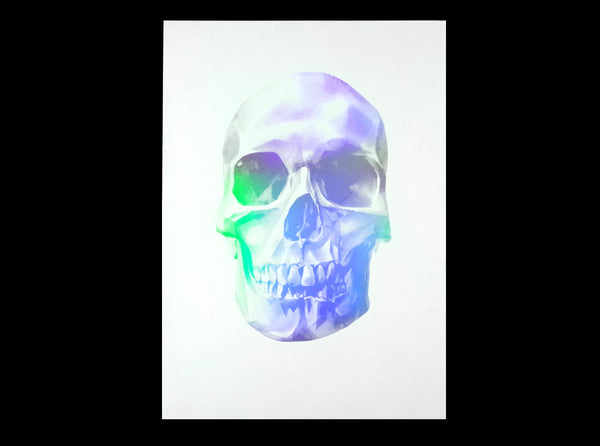'Skull 03' Holographic Screen Print | Artist Proof   ( Screen print ) by London based artist Von  — ShopVon |  HelloVon - 4