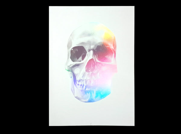 'Skull 03' Holographic Screen Print | Artist Proof   ( Screen print ) by London based artist Von  — ShopVon |  HelloVon - 6