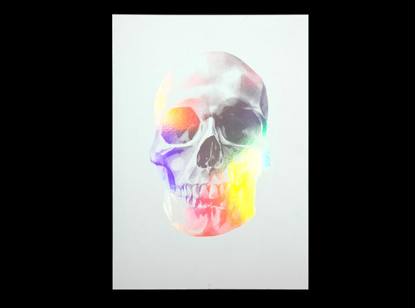 'Skull 03' Holographic Screen Print | Artist Proof   ( Screen print ) by London based artist Von  — ShopVon |  HelloVon - 7