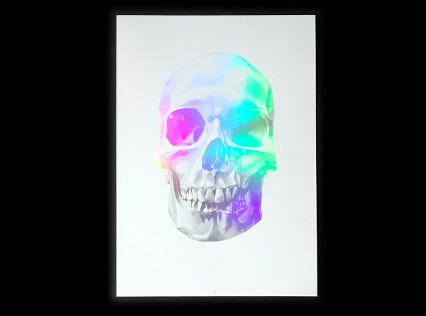 'Skull 03' Holographic Screen Print | Artist Proof   ( Screen print ) by London based artist Von  — ShopVon |  HelloVon - 9