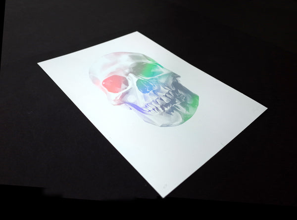 'Skull 03' Holographic Screen Print | Artist Proof   ( Screen print ) by London based artist Von  — ShopVon |  HelloVon - 2