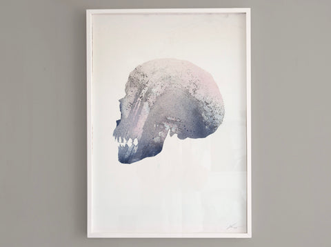 Skull [Reactor] 02 ( Original Art ) screen prints and original art by London artist Von — www.shopvon.com