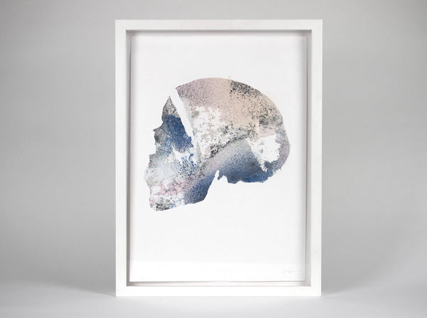 Skull [Reactor] 04 ( Original Art ) screen prints and original art by London artist Von — www.shopvon.com