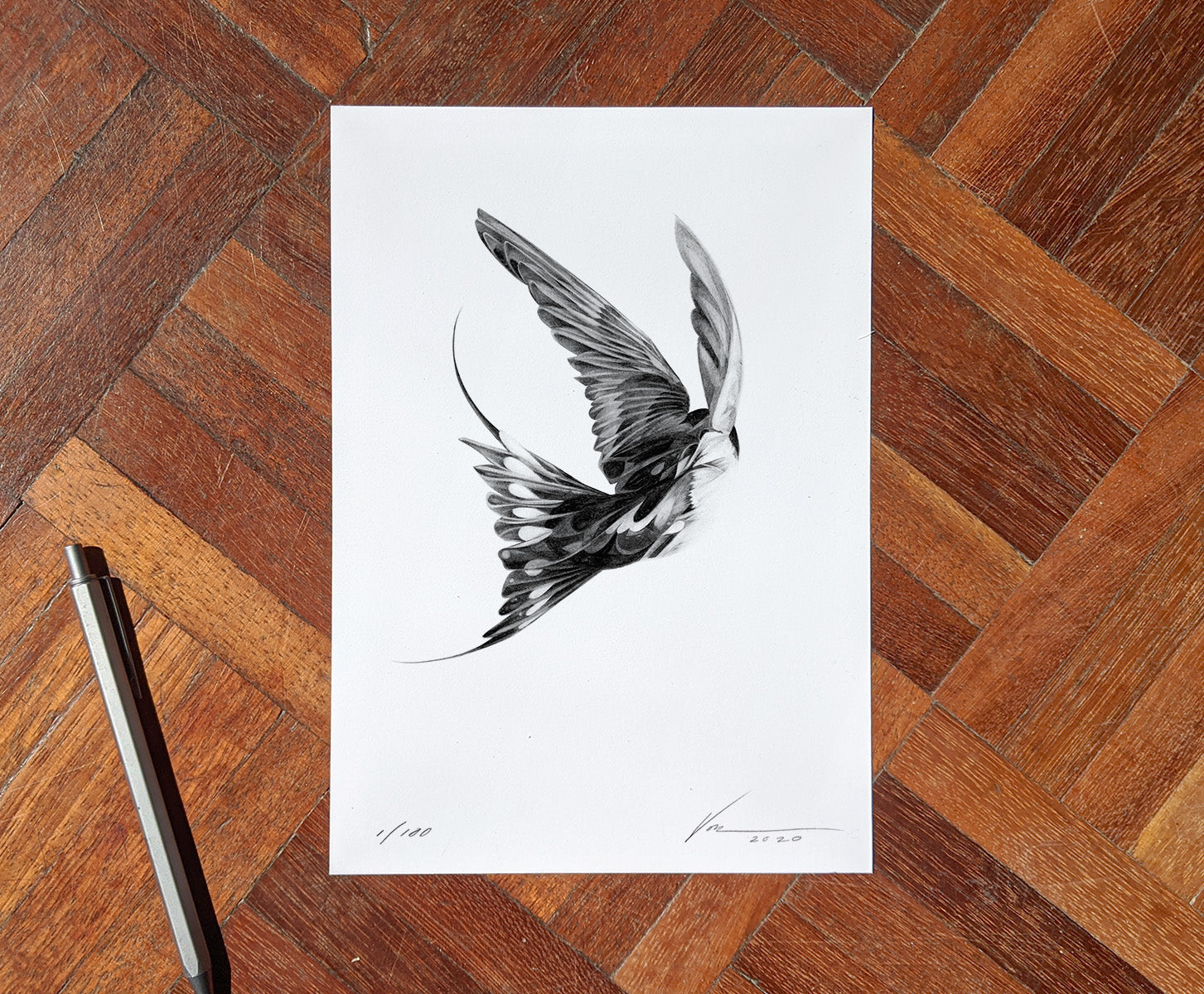 Bird 17 [Mini Edition] (  ) screen prints and original art by London artist Von — www.shopvon.com