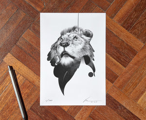 Lion 01 [Mini Edition] (  ) screen prints and original art by London artist Von — www.shopvon.com