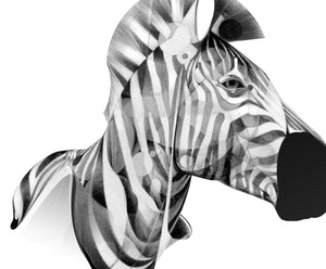 Zebra 01 [Mini Edition] (  ) screen prints and original art by London artist Von — www.shopvon.com