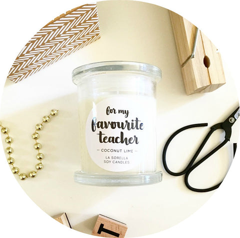 My Favourite Teacher Candle / Coconut Lime