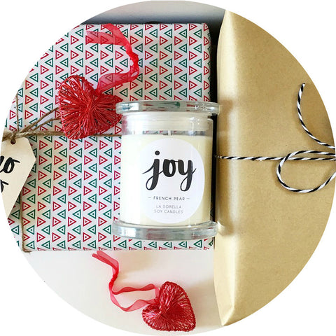 Joy Christmas Candle / French Pear