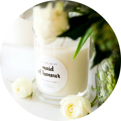 Will You Be My Maid of Honour Candles
